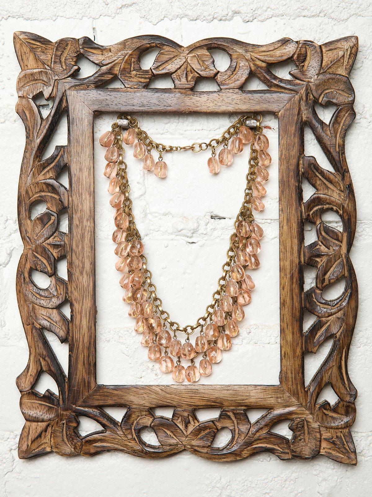 Vintage 1930s Czech Pink Crystal Necklace