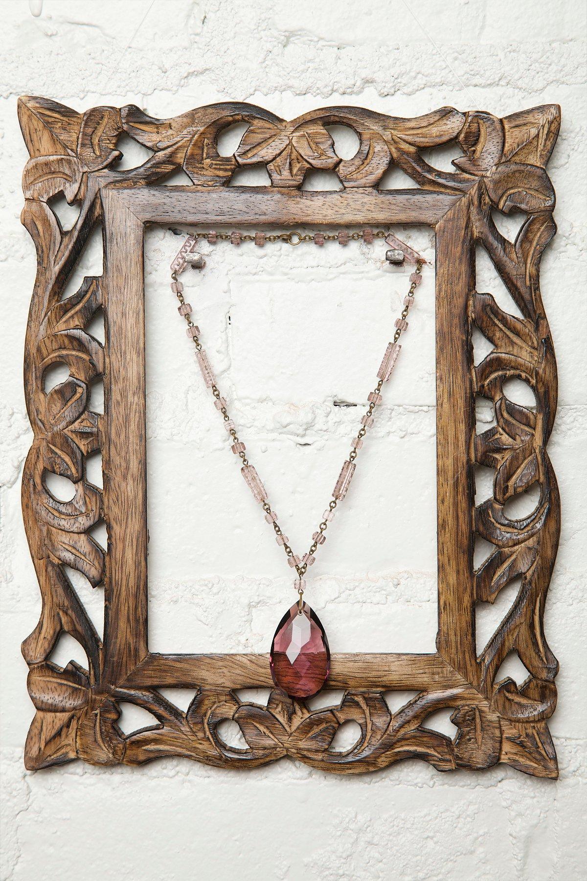 Vintage Purple Czech Crystal Necklace