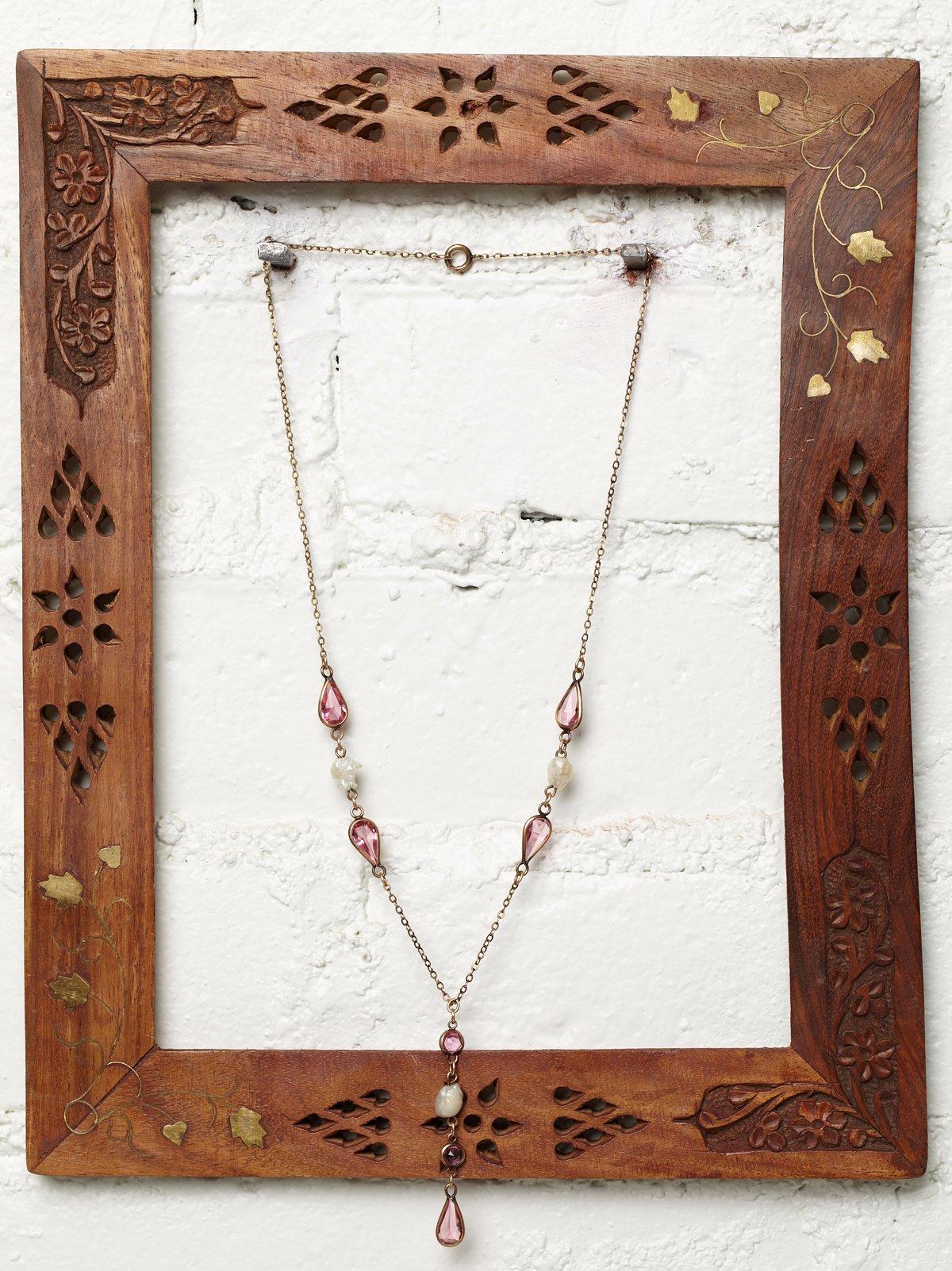 Vintage Crystal & Pearl Necklace