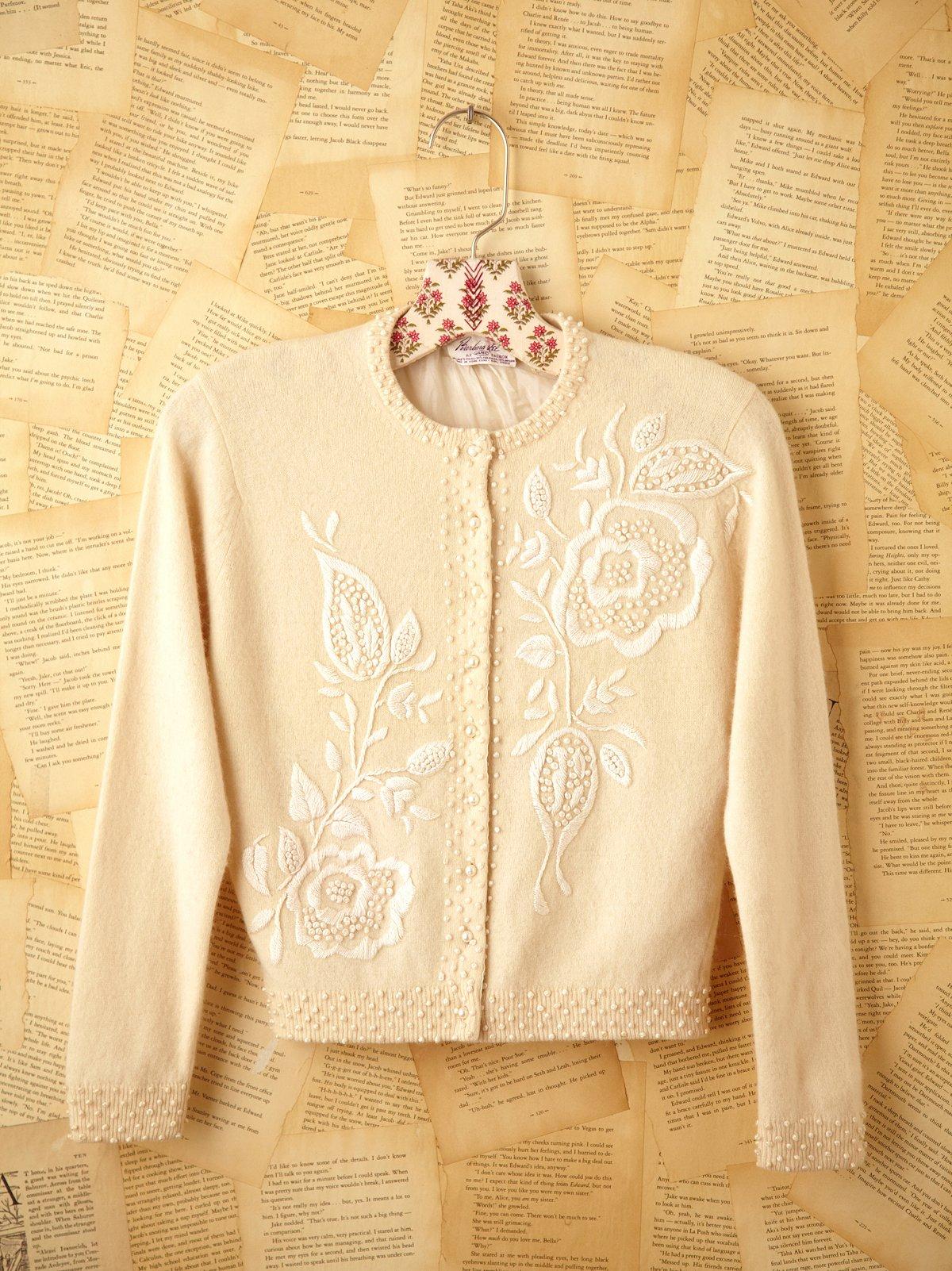 Vintage Beaded Sweater