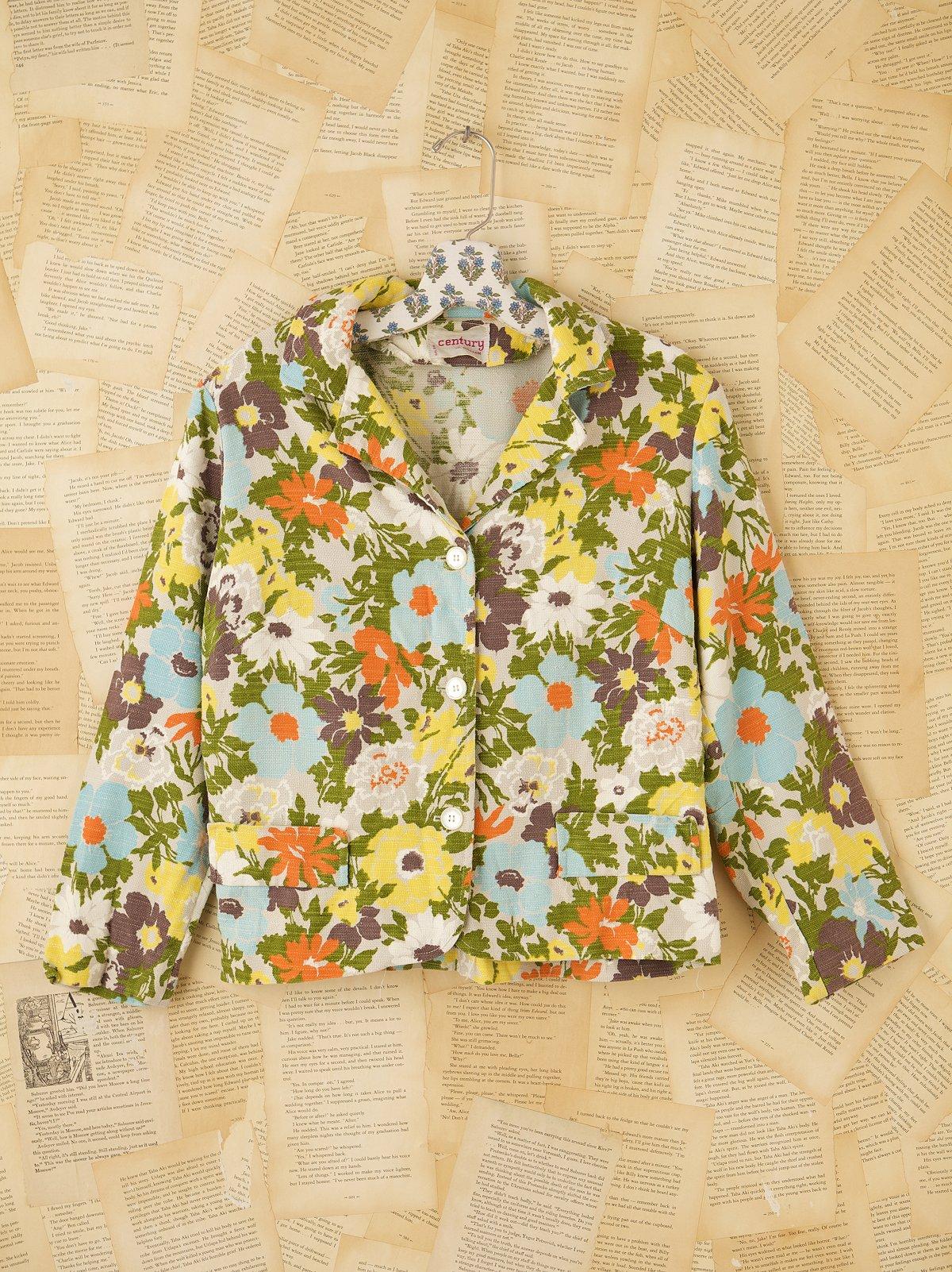 Vintage 1960s Floral Print Jacket