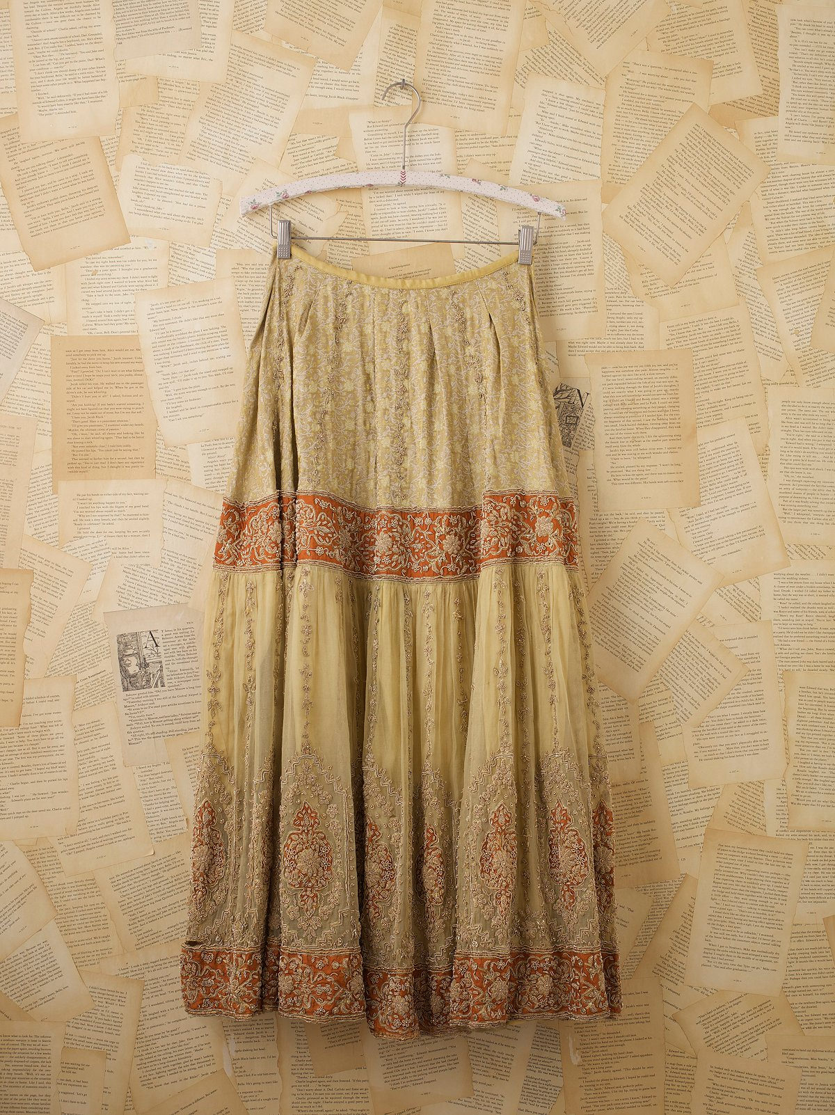 Vintage Beaded Indian Wedding Skirt