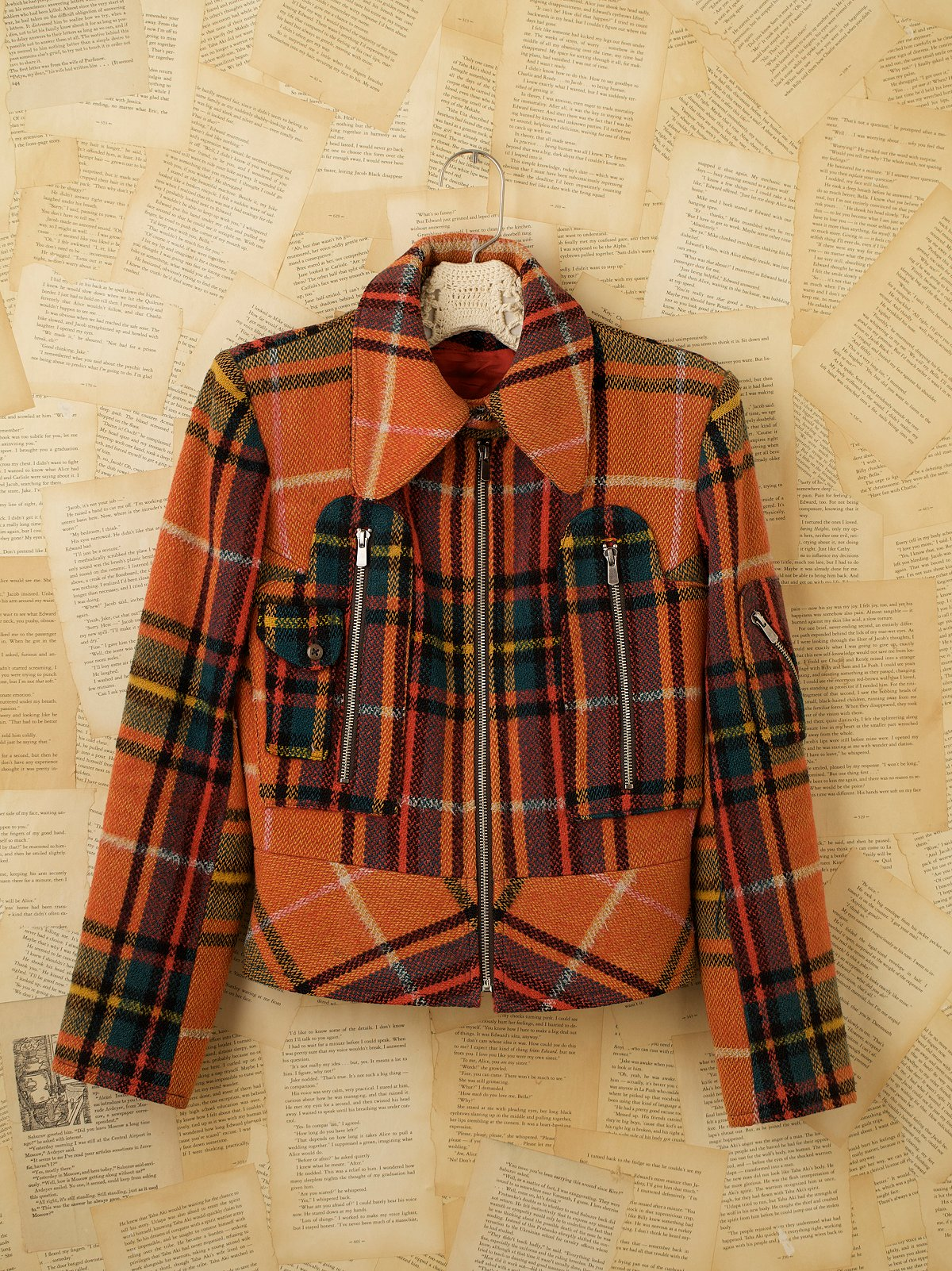 Vintage Plaid Motorcross Coat
