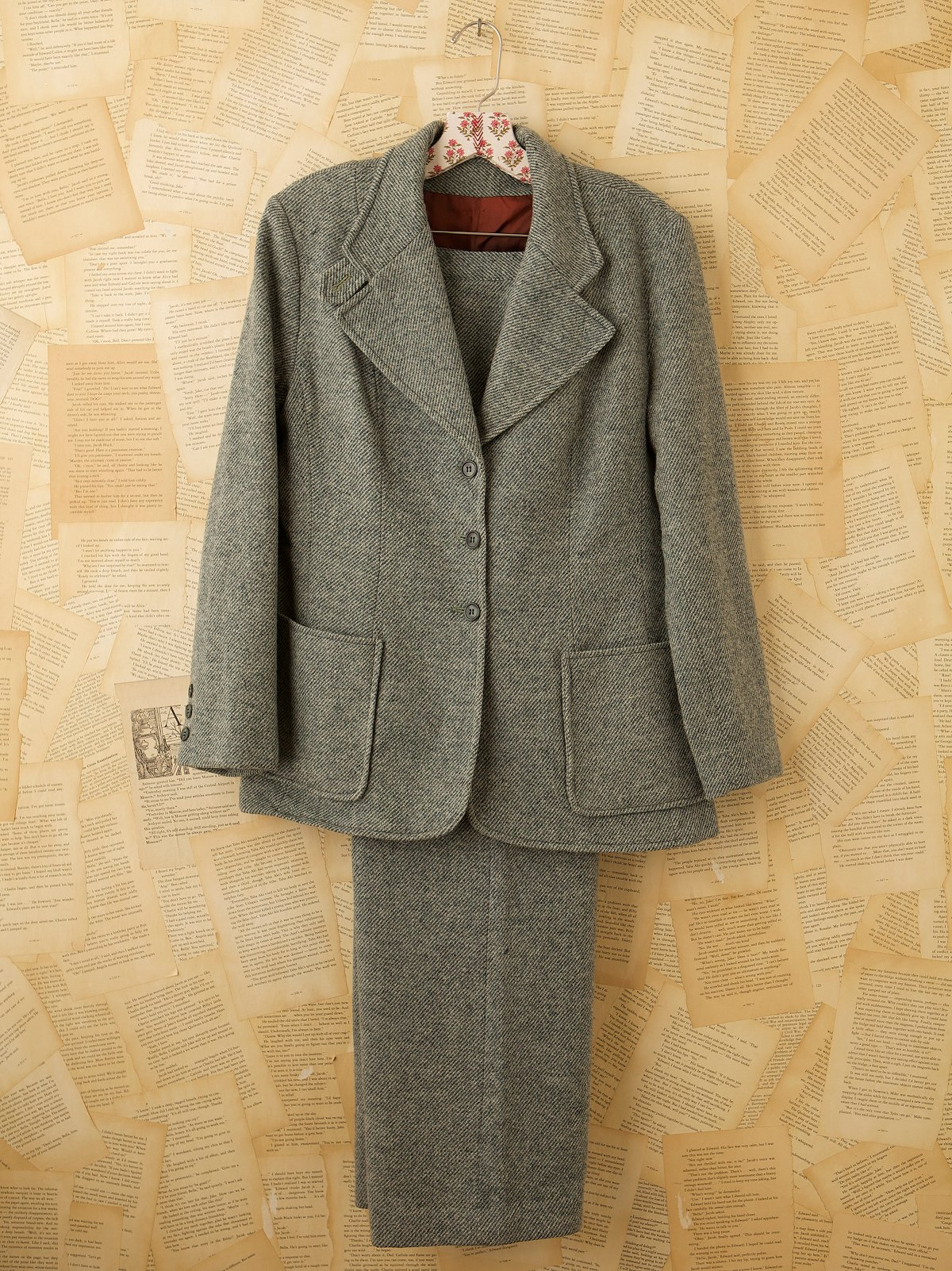 Vintage Green Tweed Suit