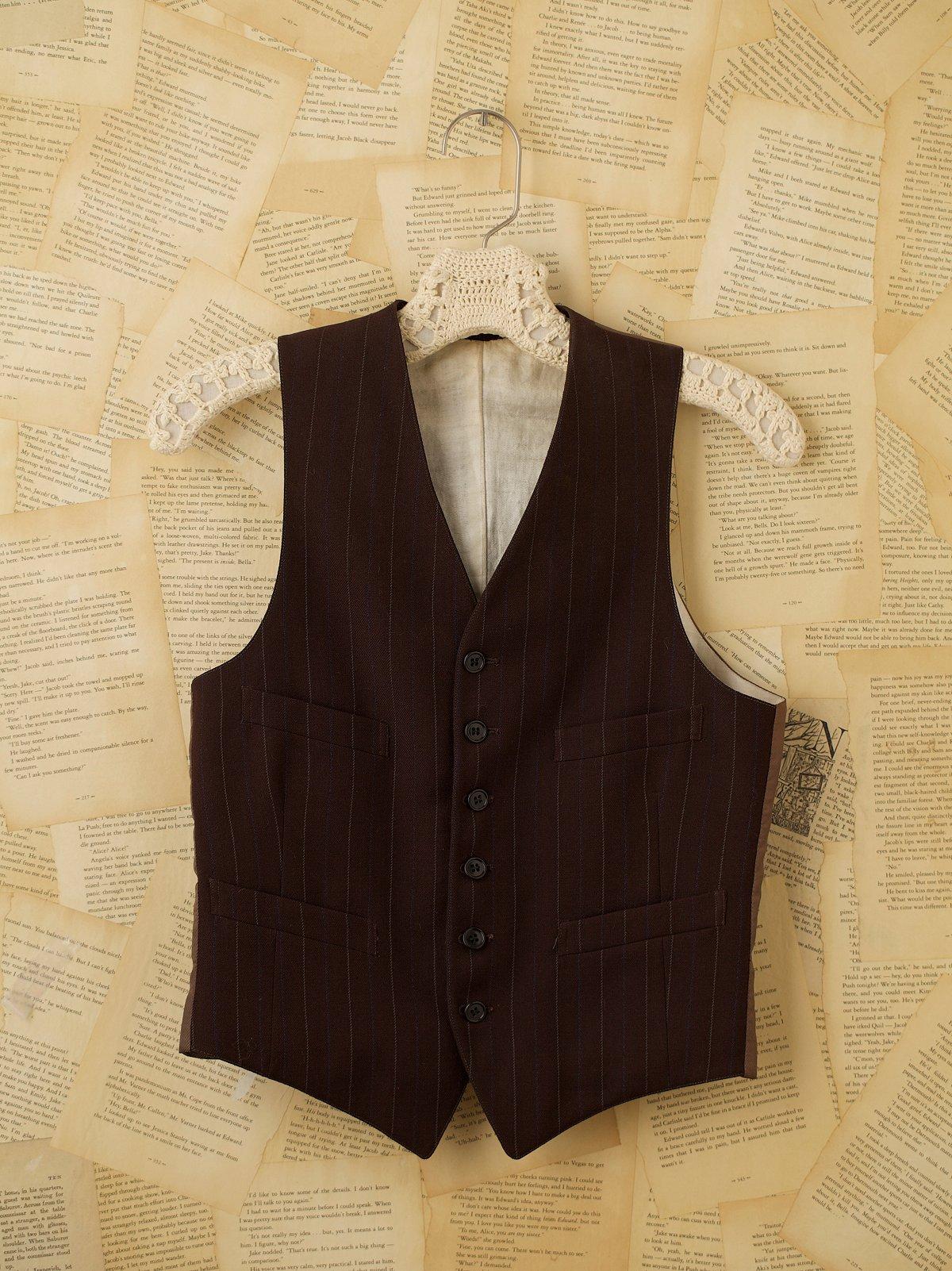 Vintage Wool Pinstripe Vest