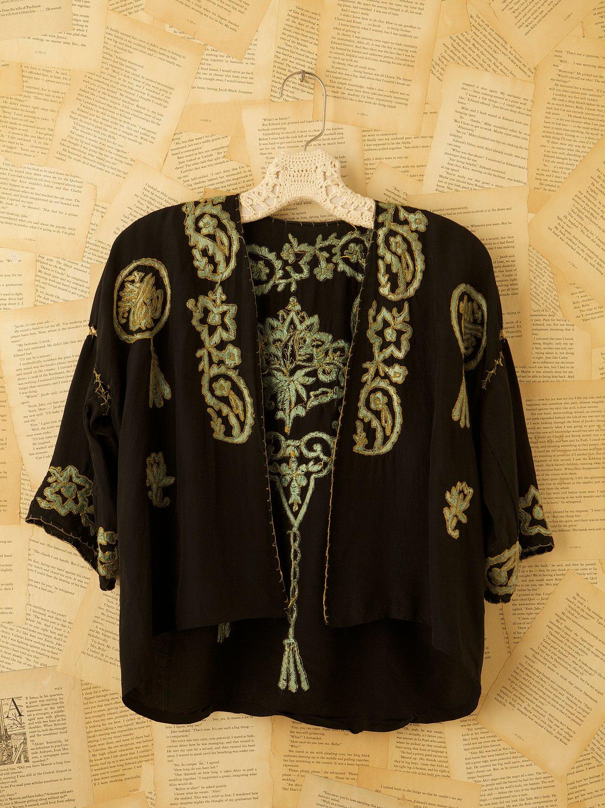 Vintage Silk Bedjacket