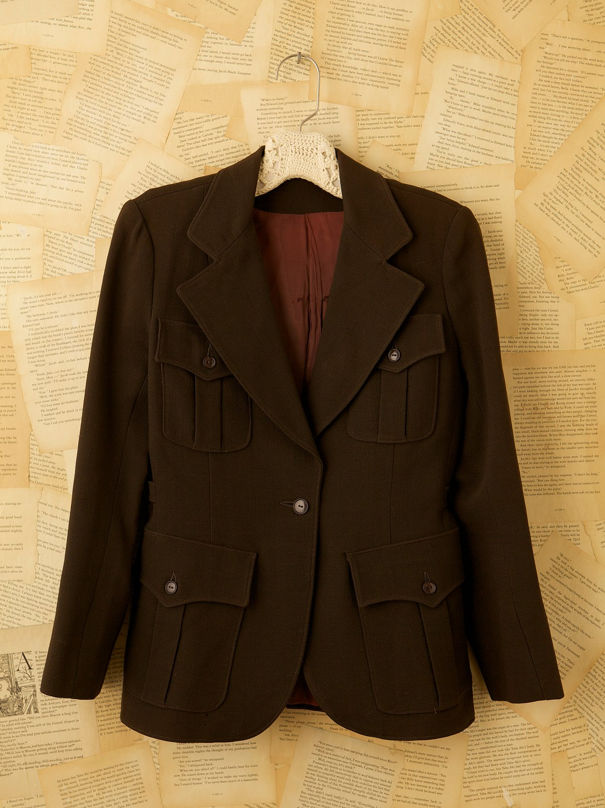 Vintage 70s Brown Yves Saint Laurent Blazer