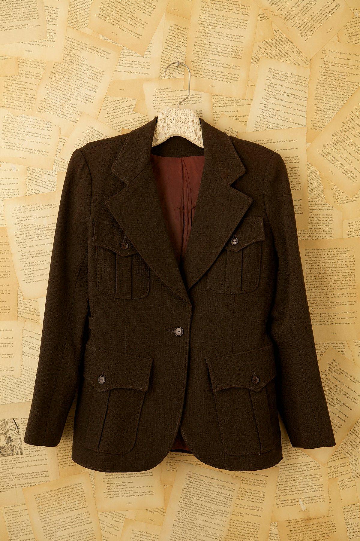 Vintage 70s Brown Yves Saint Laurent Blazer