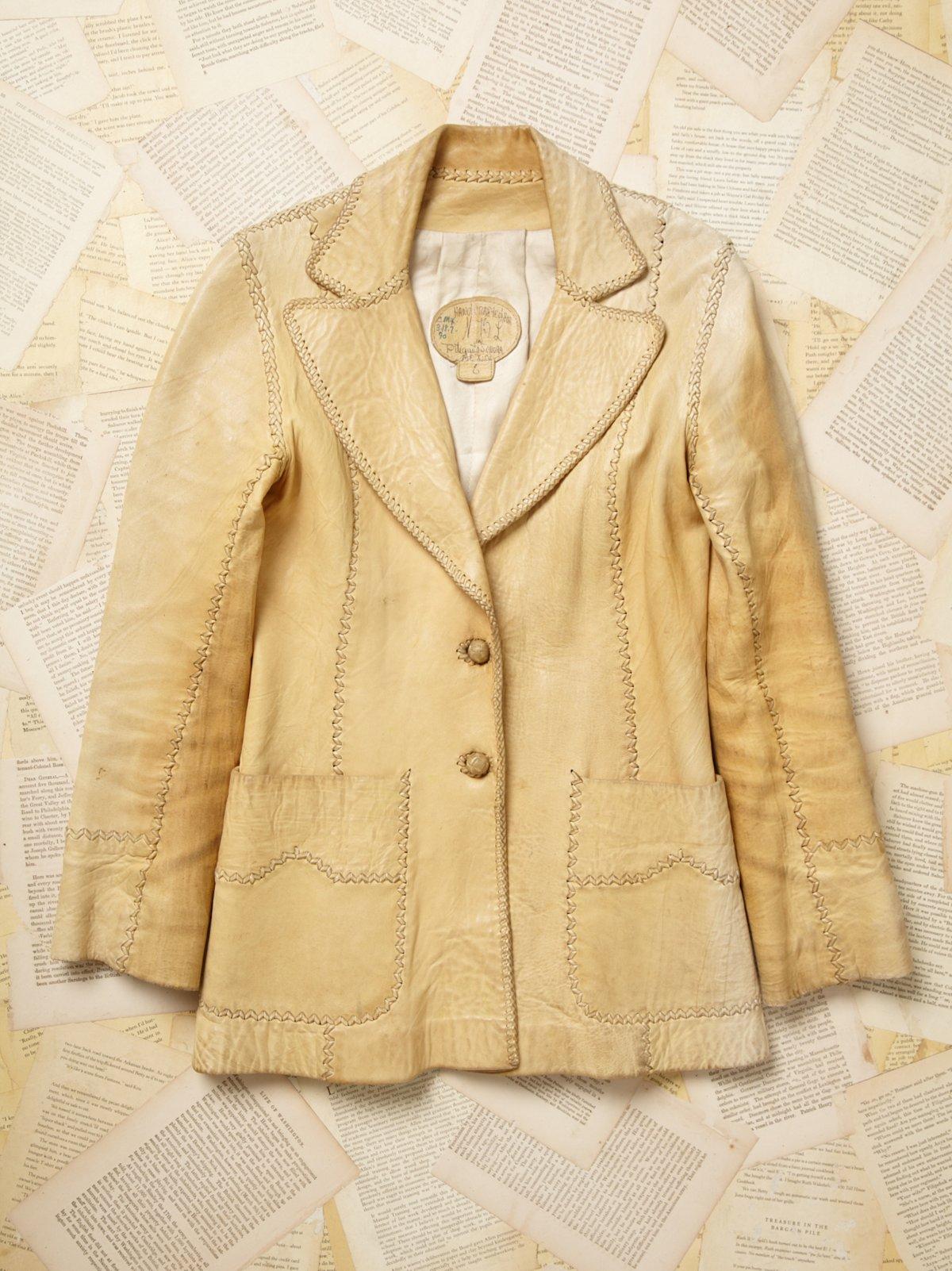 Vintage East West Leather Coat