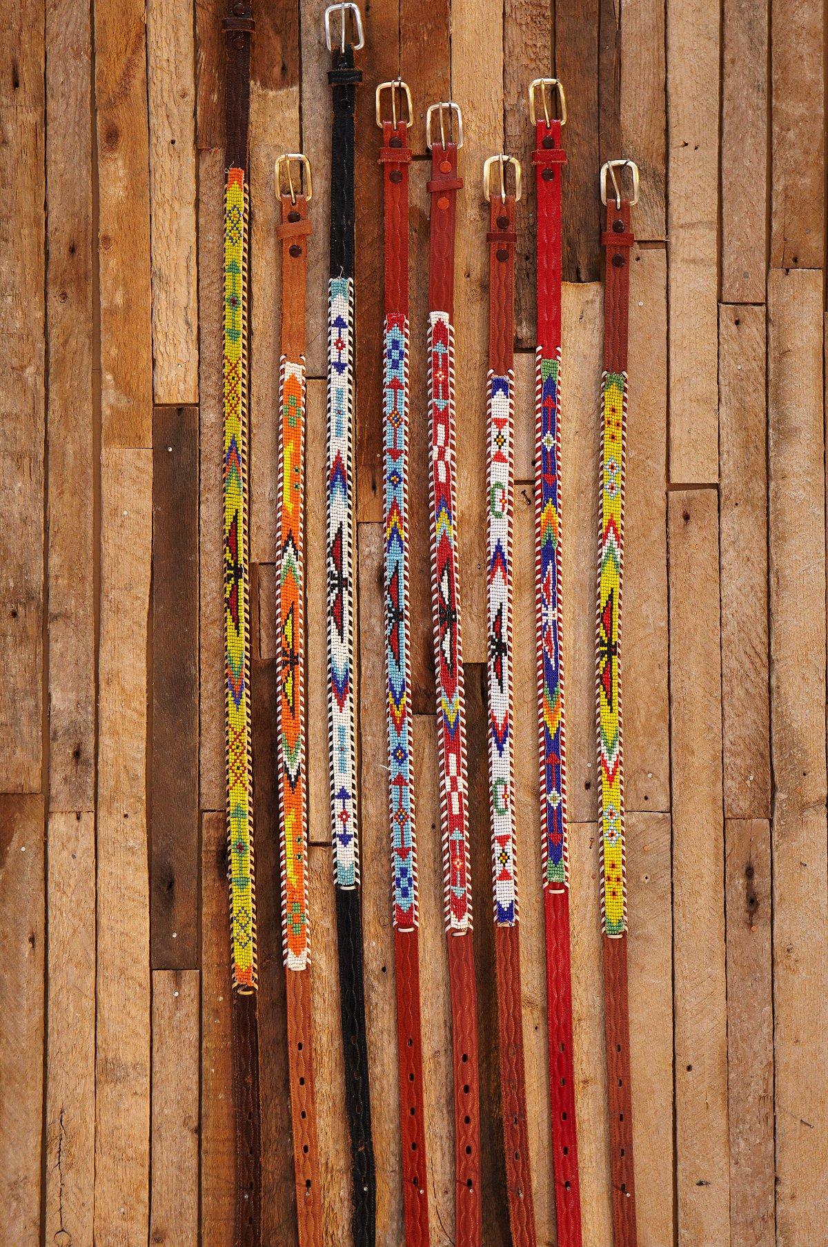 Vintage Indian Beaded Belts