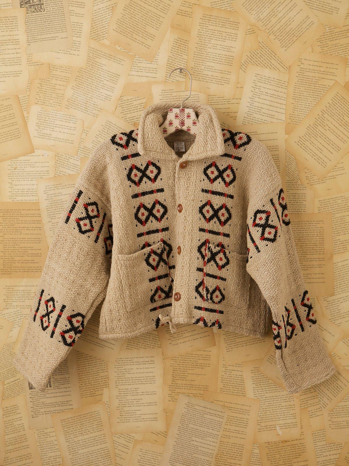 Vintage Cream Wool Jacket
