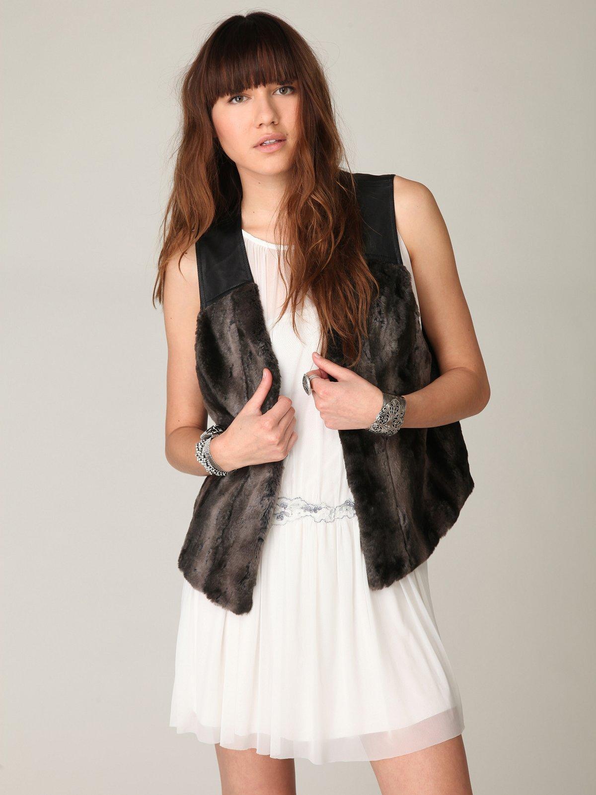 Disordered Fur Vest