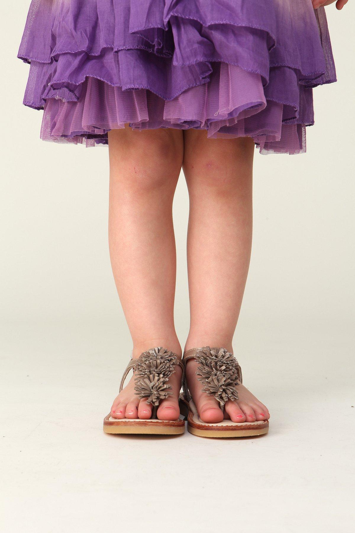 Wee People Toddler Metallic Pom Pom Sandal