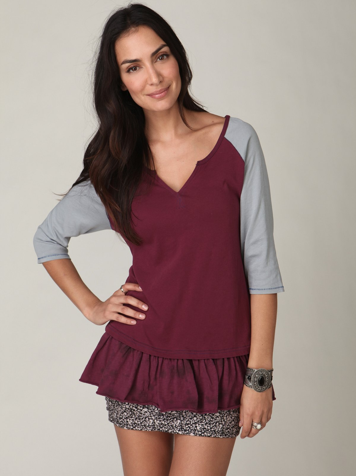 We The Free Dropwaisted Graphic Tunic