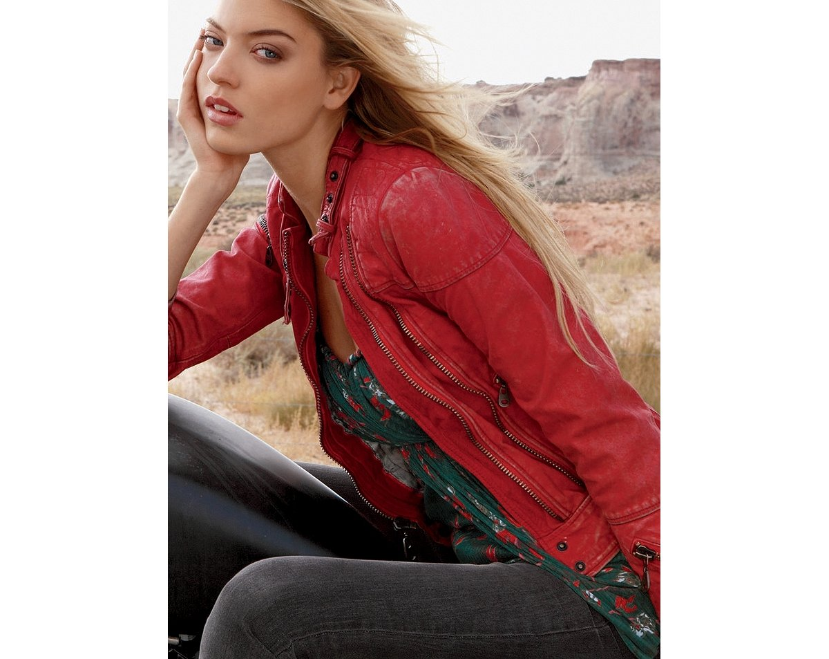 Doma Red Leather Jacket
