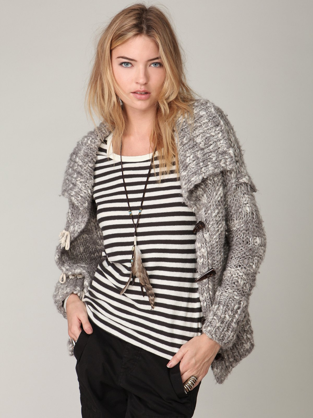 Ever Melange Toggle Sweater