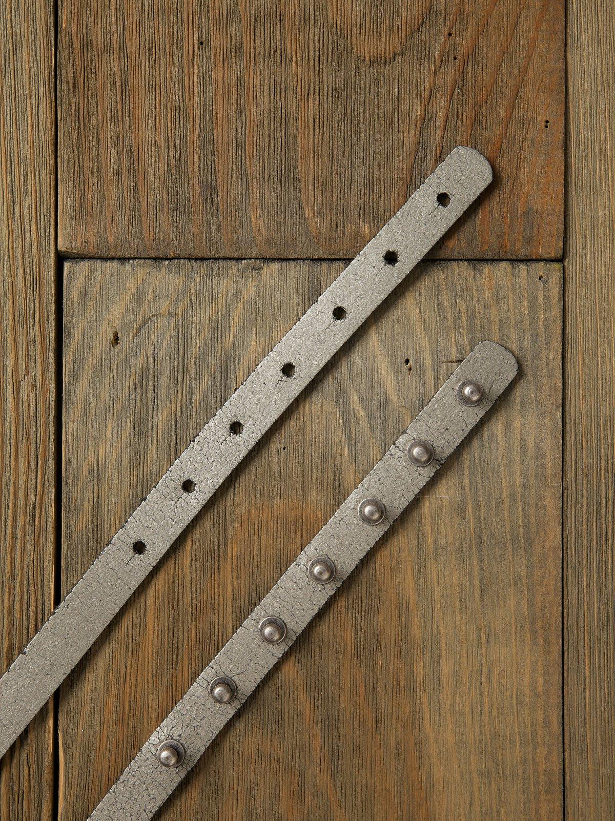 Shimmer Peg Skinny Belt