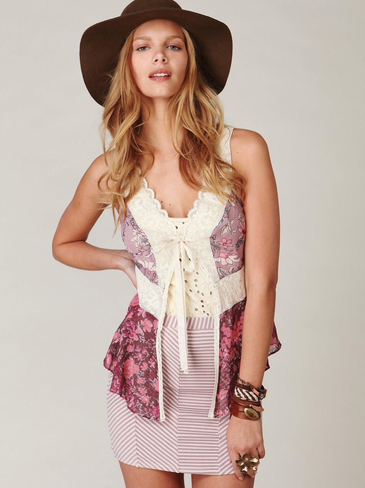 Mitered Bodycon Skirt