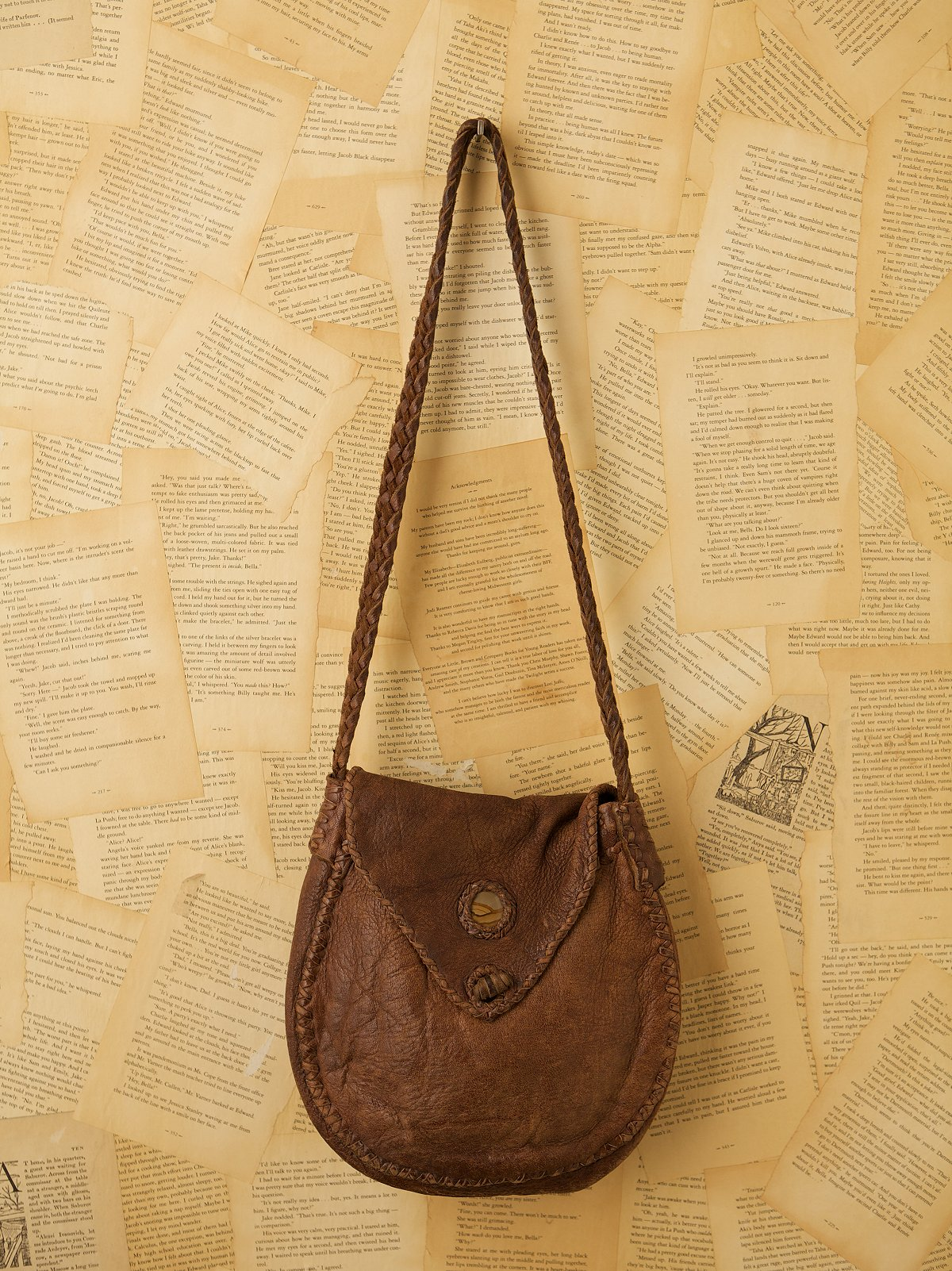 Vintage Woven Leather Satchel