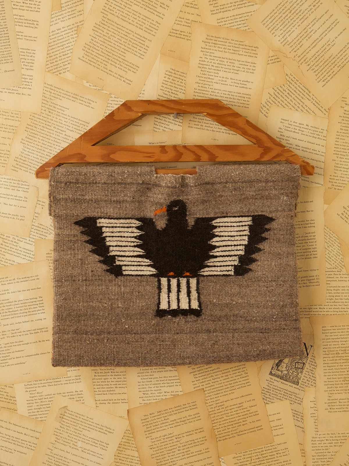 Vintage Wool Thunderbird Bag