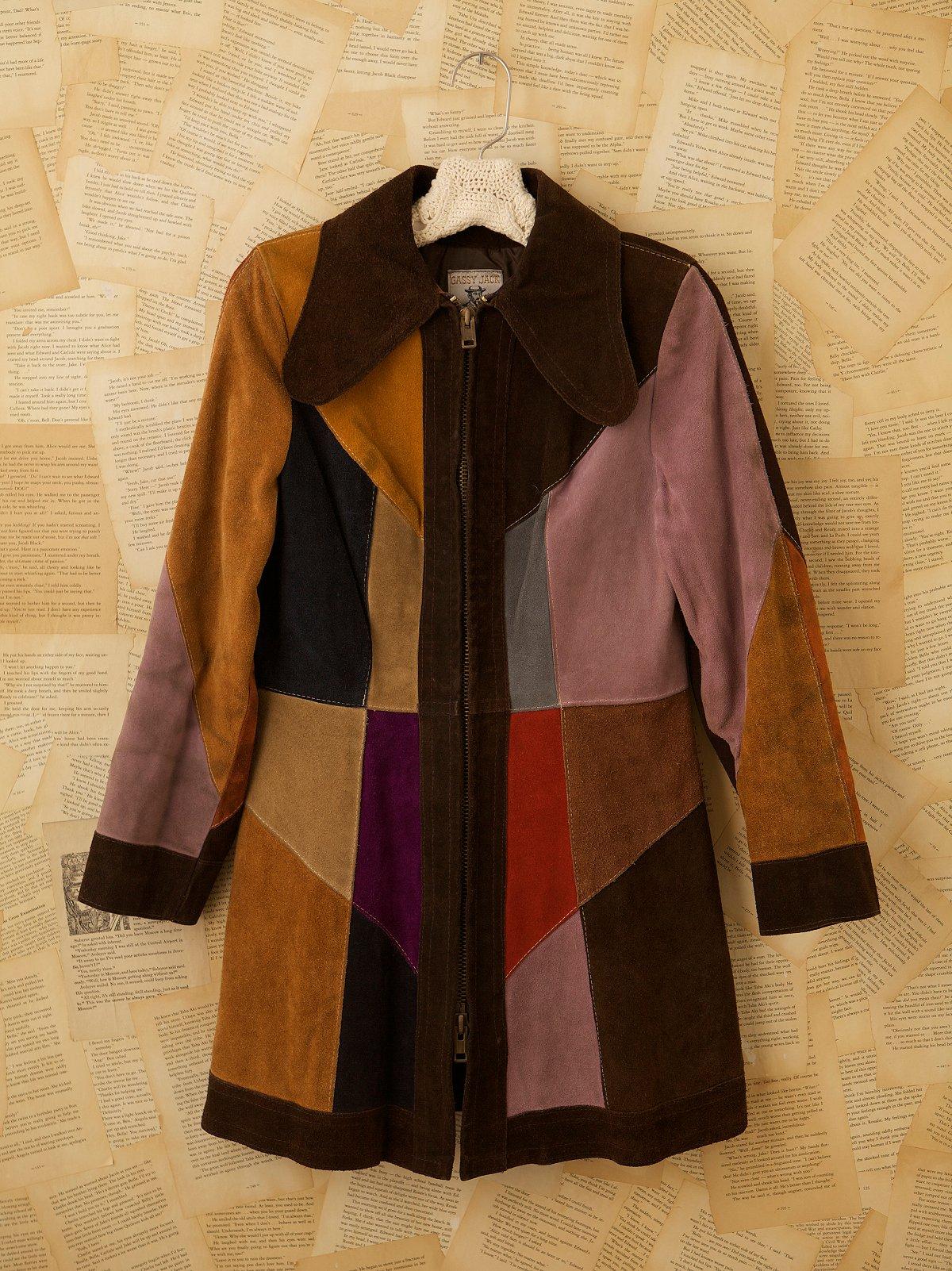 Vintage 1970s Suede Patchwork Coat
