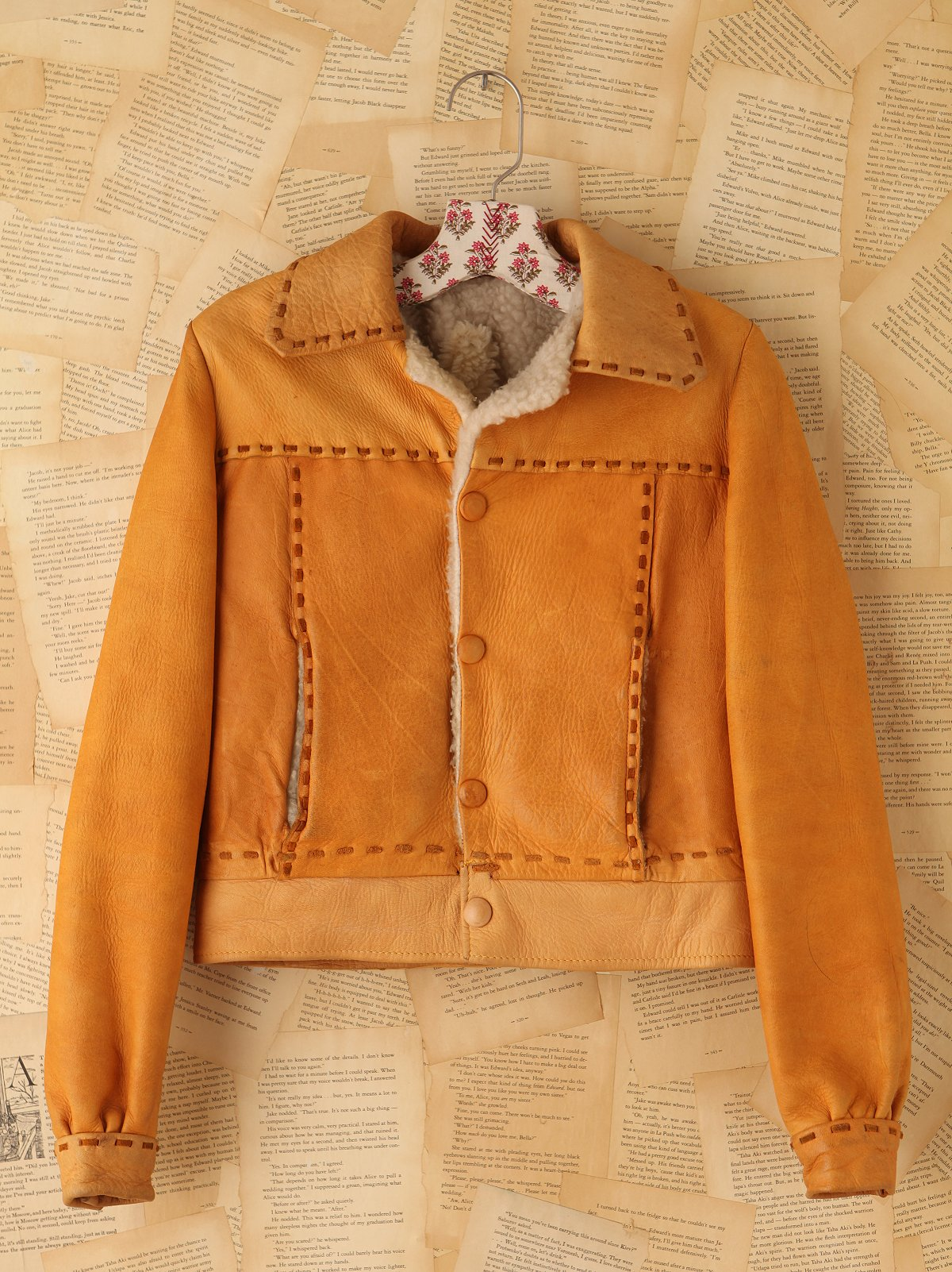 Vintage Mustard Leather Jacket