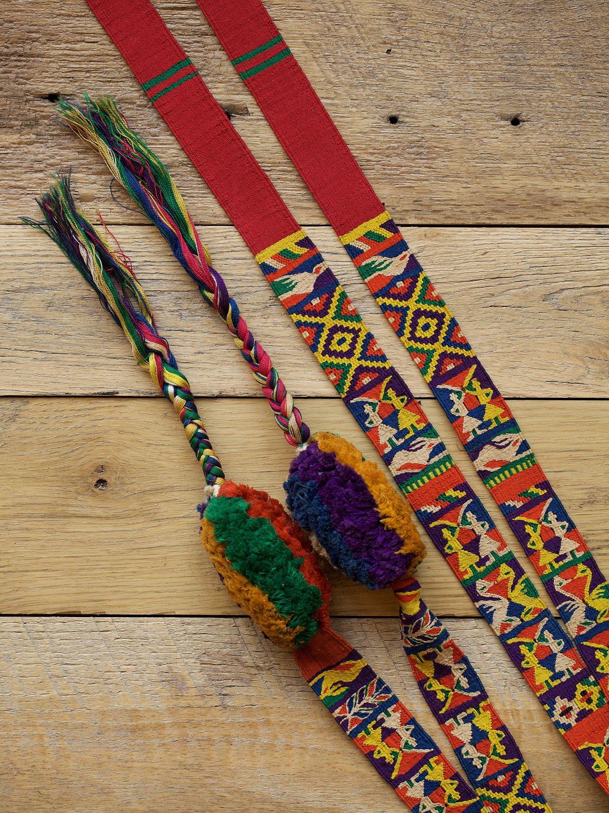 Vintage 1960s Guatemalan Faja Belt