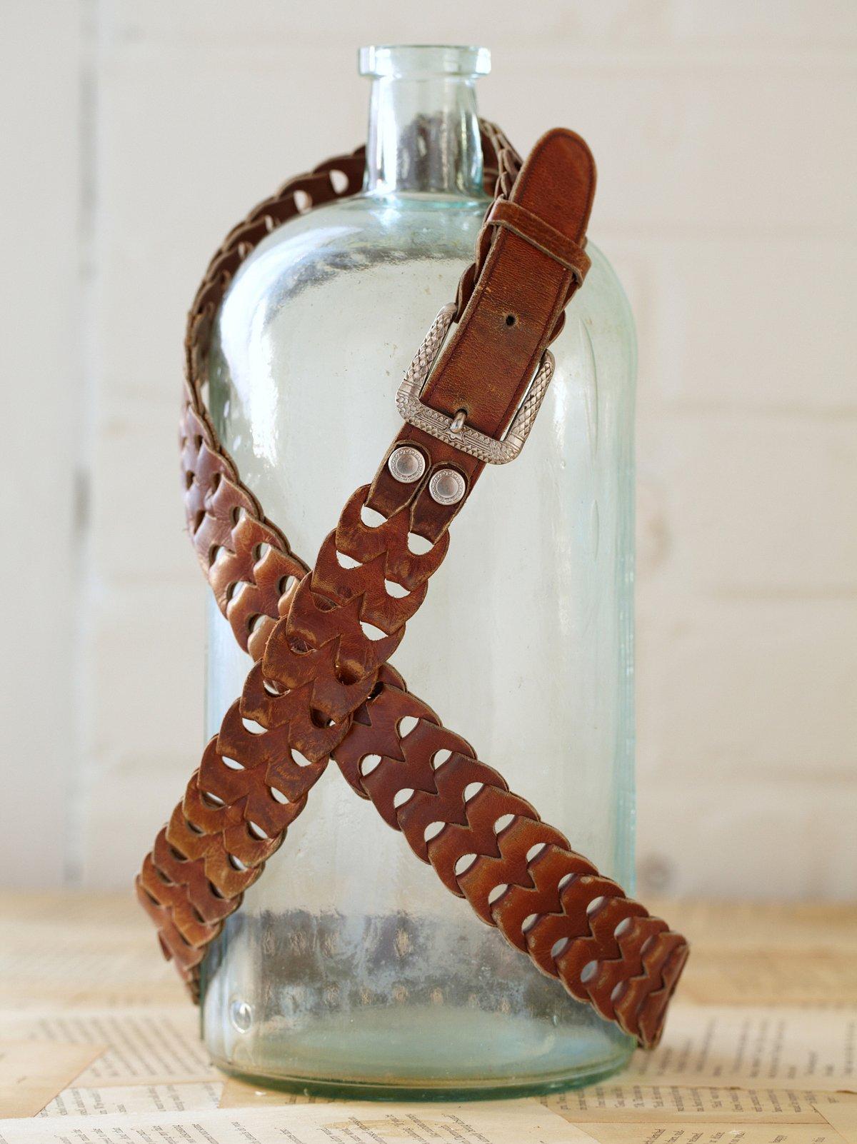 Vintage Linked Leather Belt