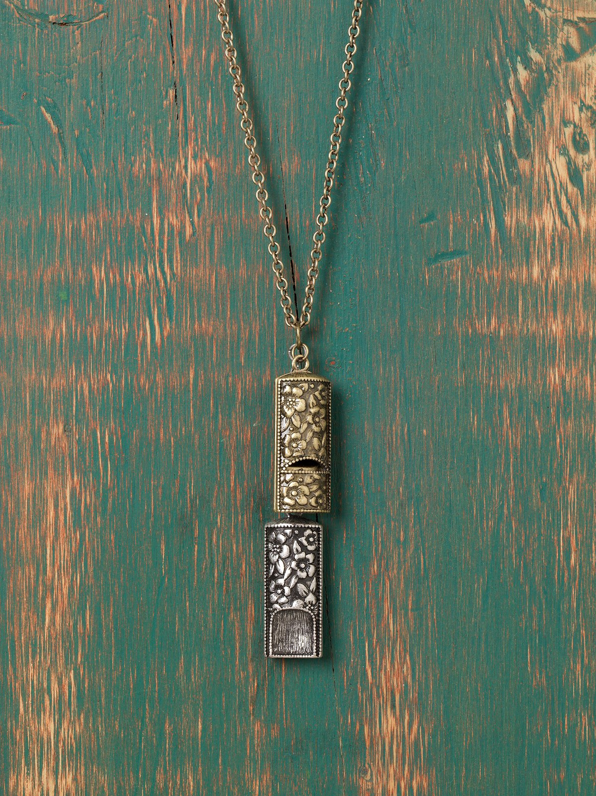 Engraved Whistle Necklace