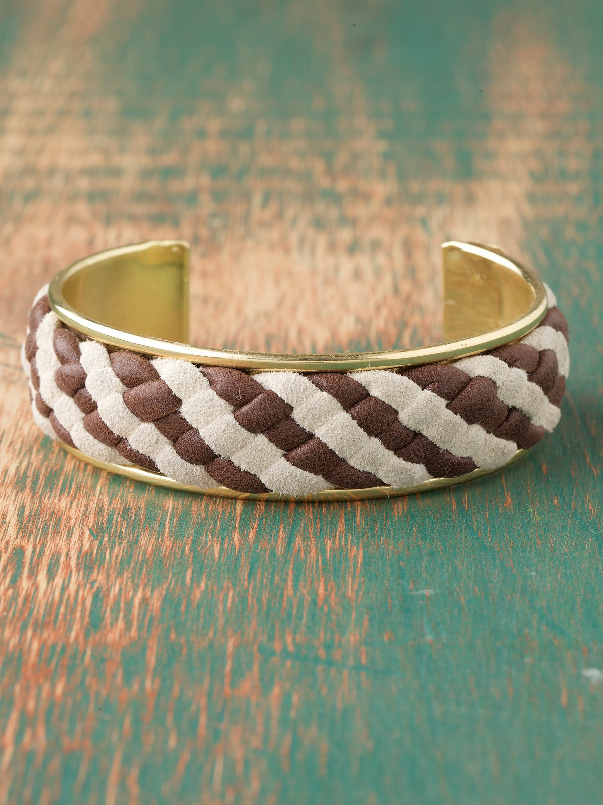 Leather Weave Cuff