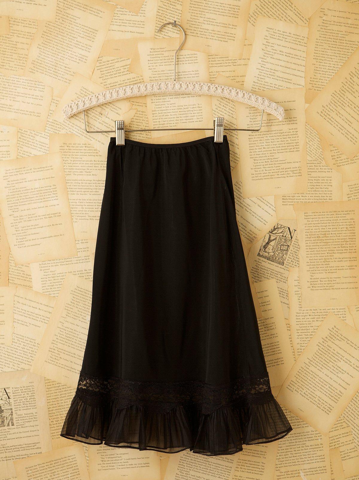 Vintage 1940s Rayon Slip Skirt
