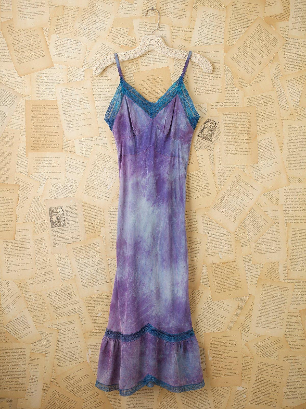 Vintage 40s Hand Dyed Rayon Slip Dress