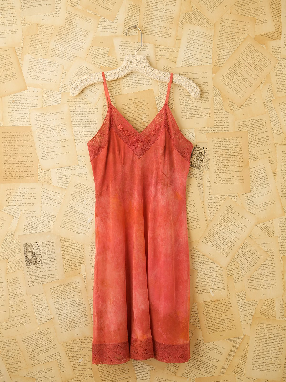 Vintage 1940s Hand Dyed Rayon Slip Dress