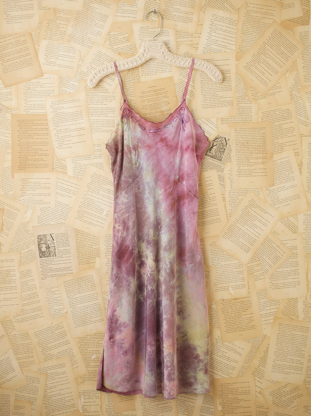 Vintage 40s Hand Dyed Rayon Slip Dress