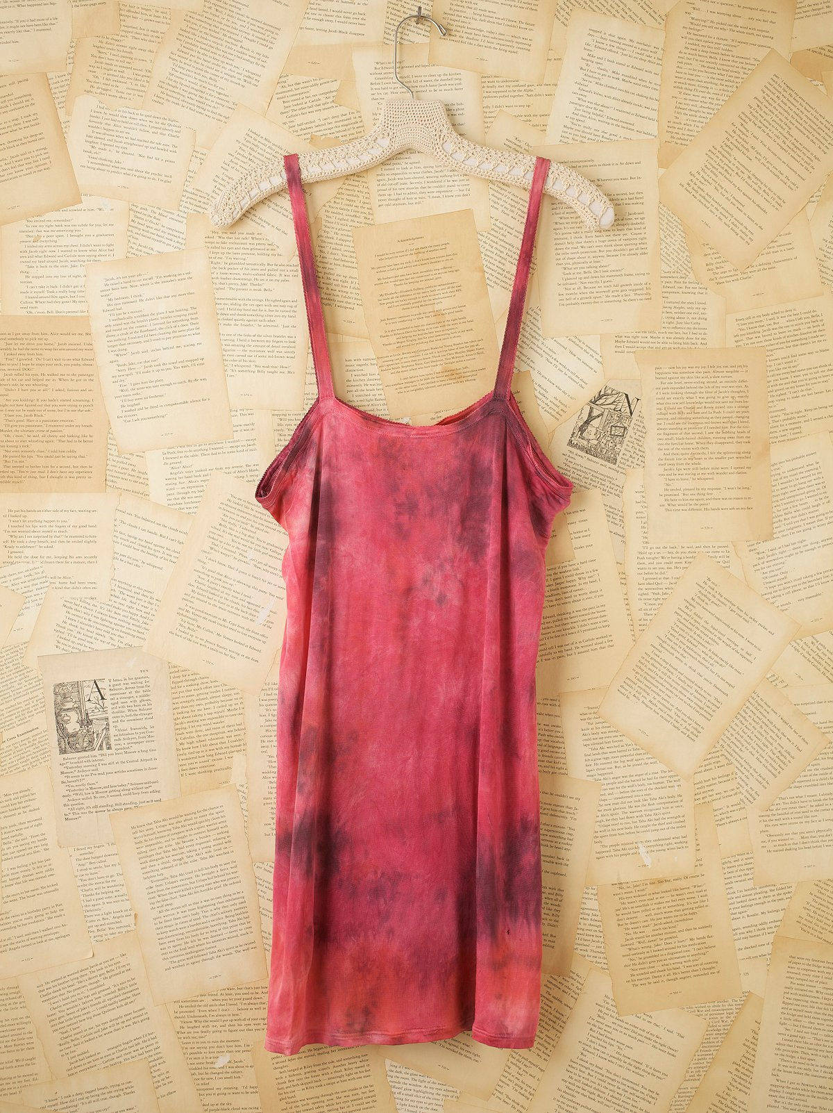 Vintage 1940s Hand Dyed Rayon Knit Tank Top