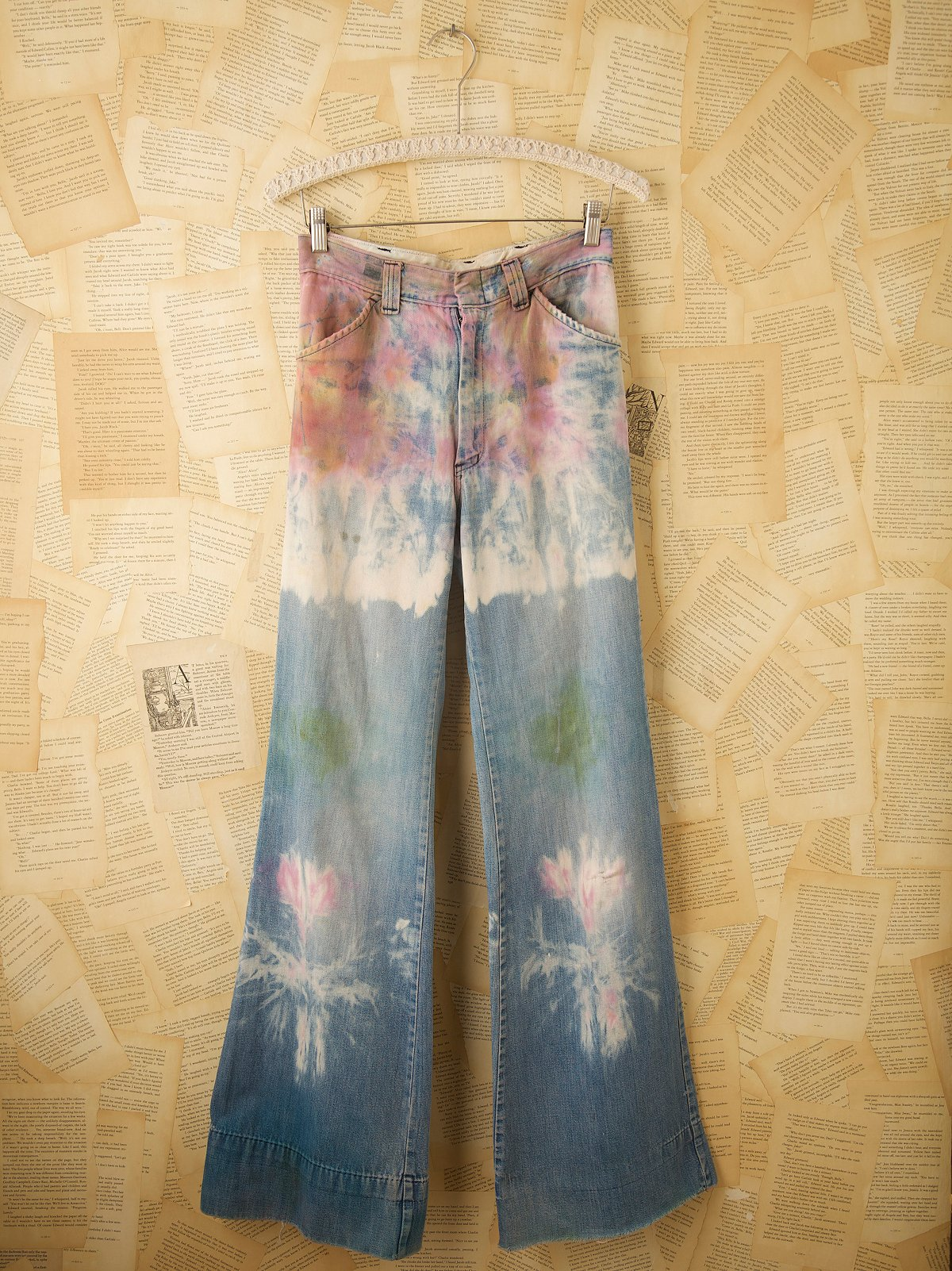 Vintage 1970s Hand Dyed Jeans