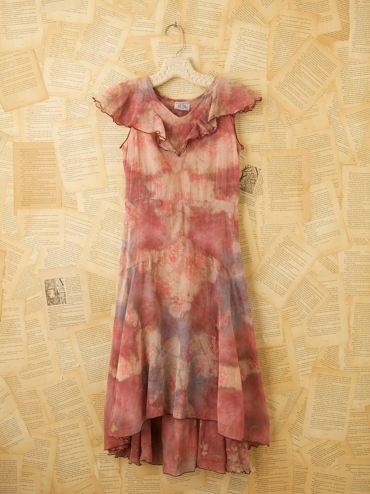 Vintage 1920s Cotton Floral Dress