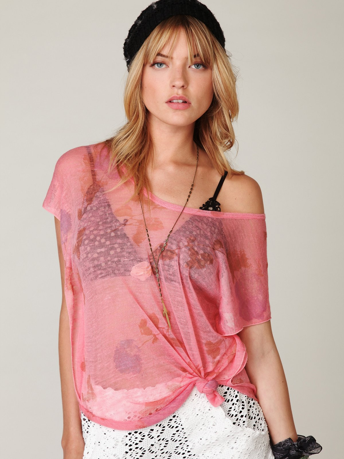 Sheer Flutter Sleeve Tee