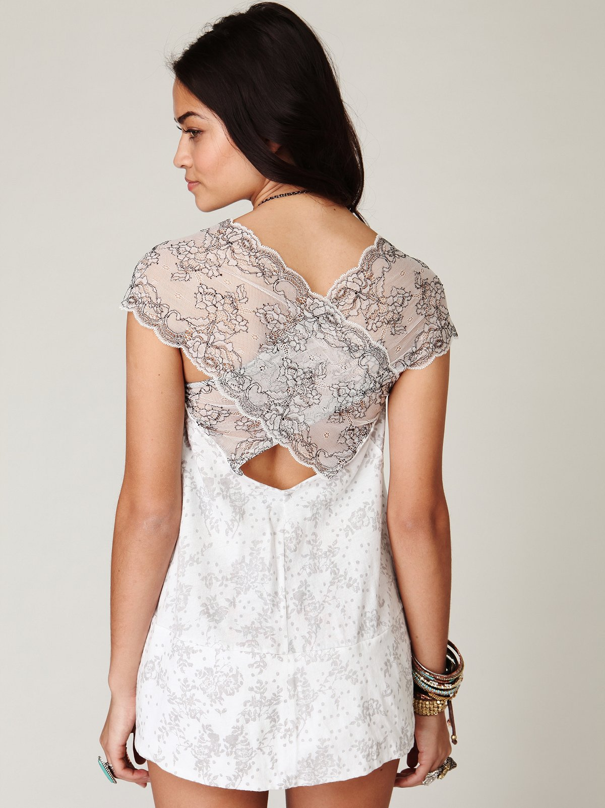 Sleeveless Printed Crossback Tunic