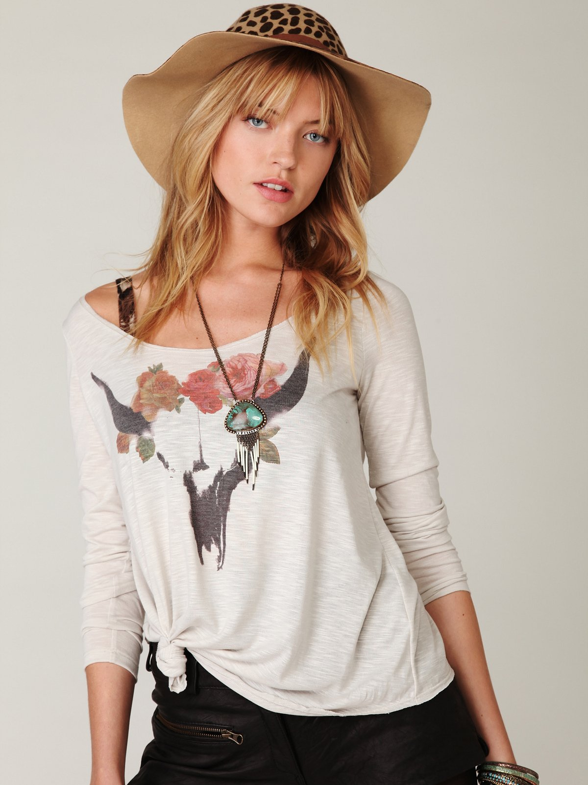 We The Free Floral Western Top