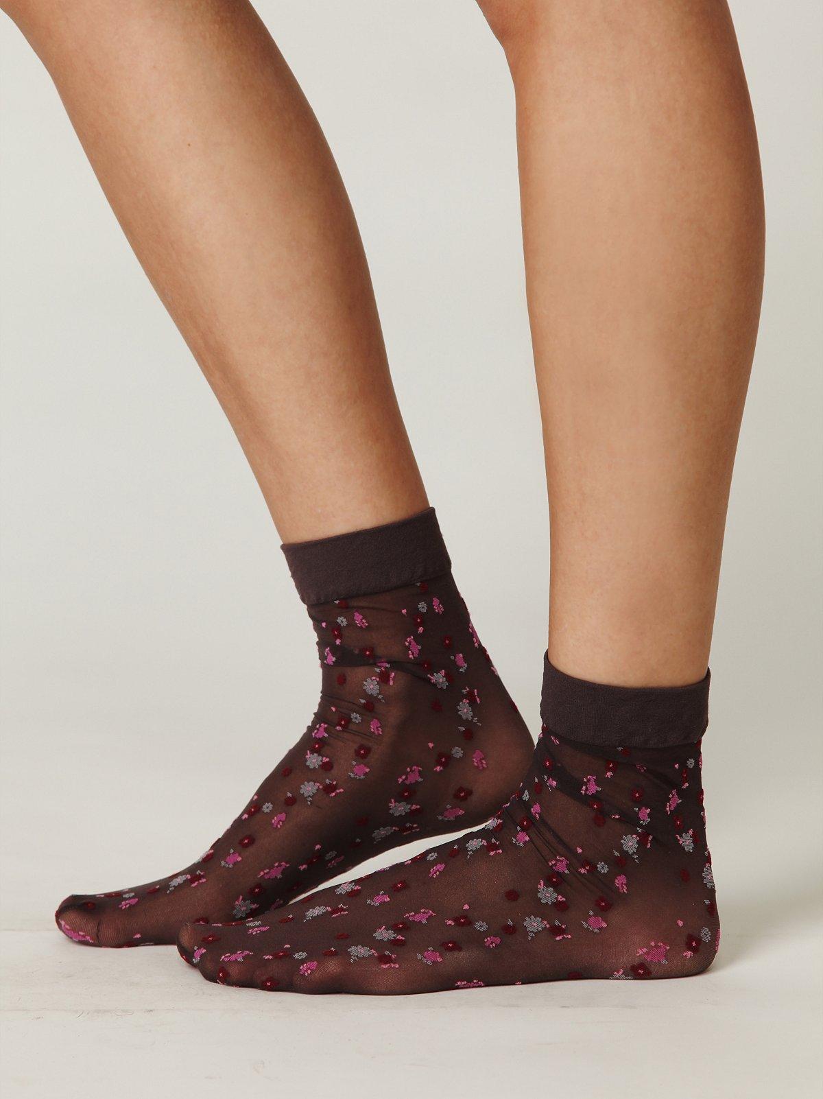Sheer Ditsy Ankle Sock