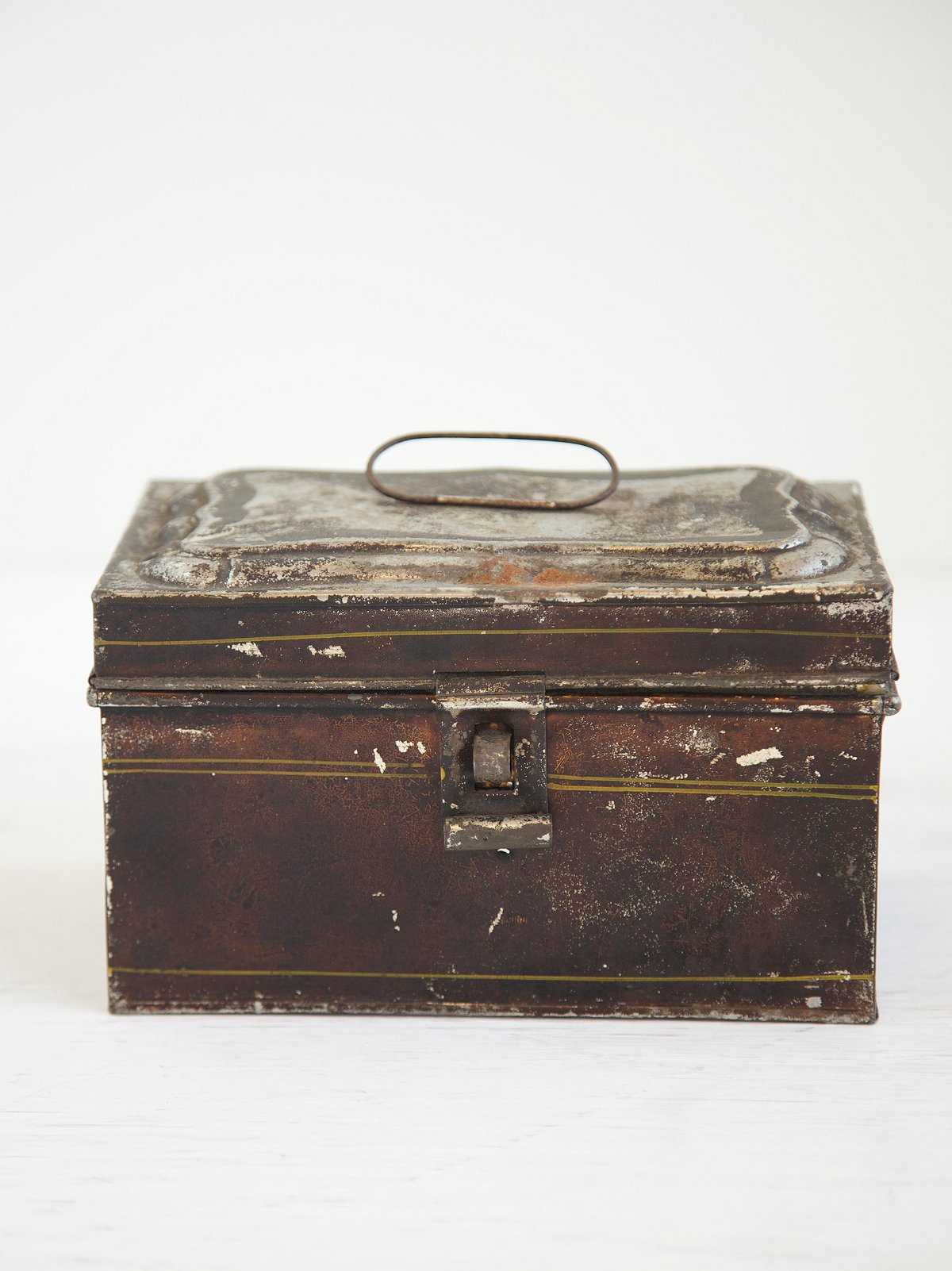 Vintage Tin Document Box