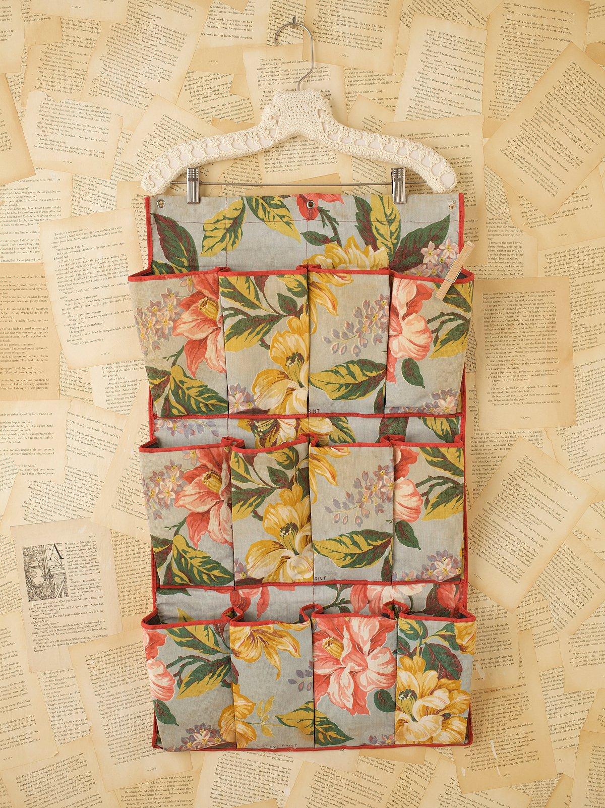 Vintage Floral Print Shoe Bag