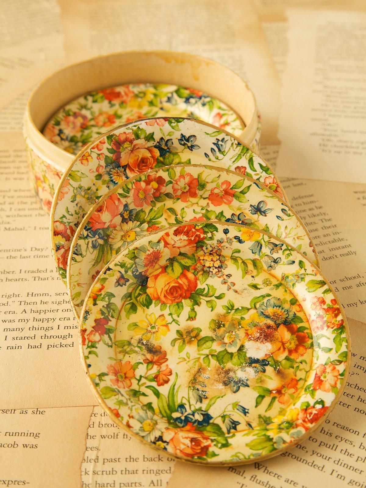 Vintage Floral Coasters