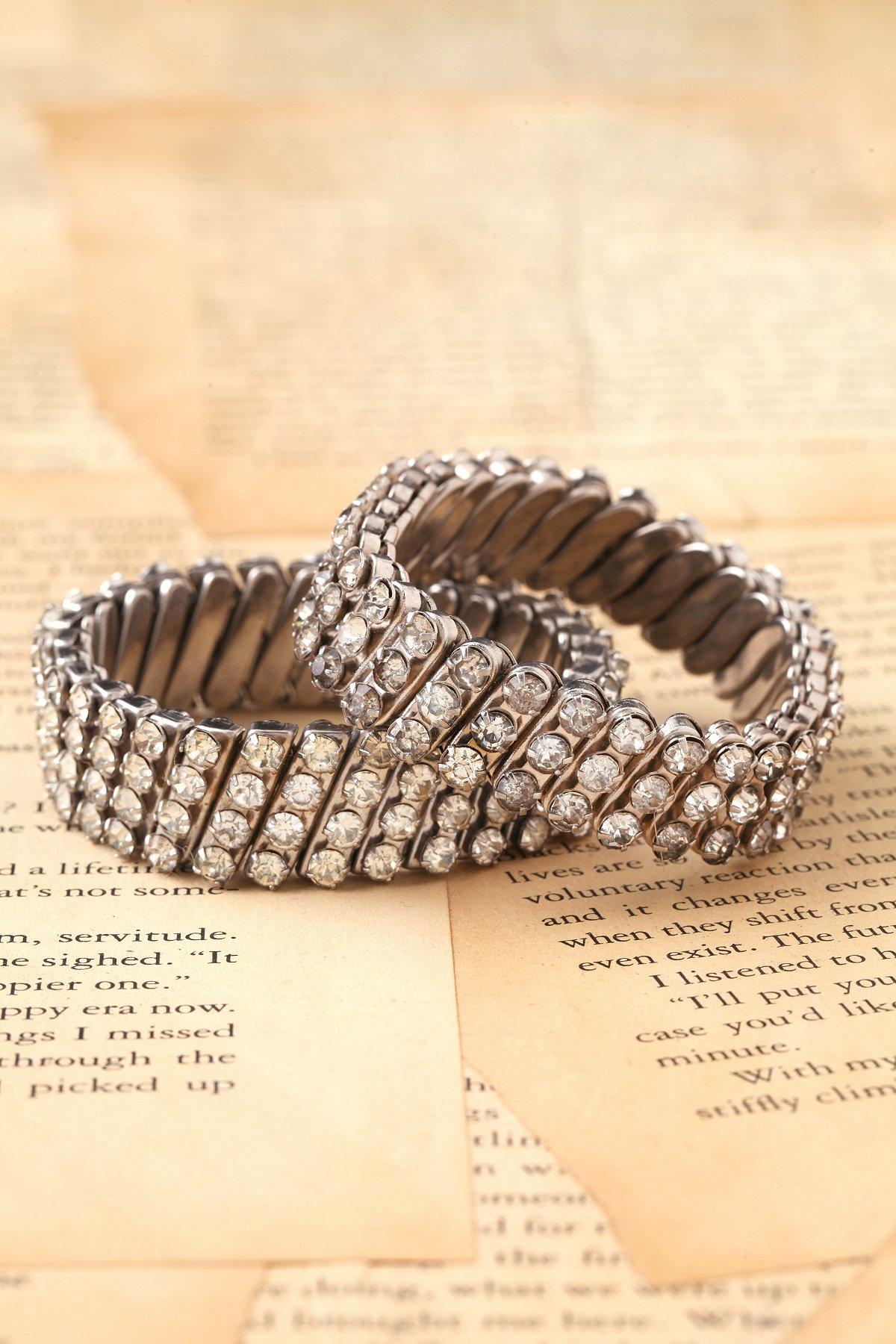 Vintage Stretch Rhinestone Bracelets