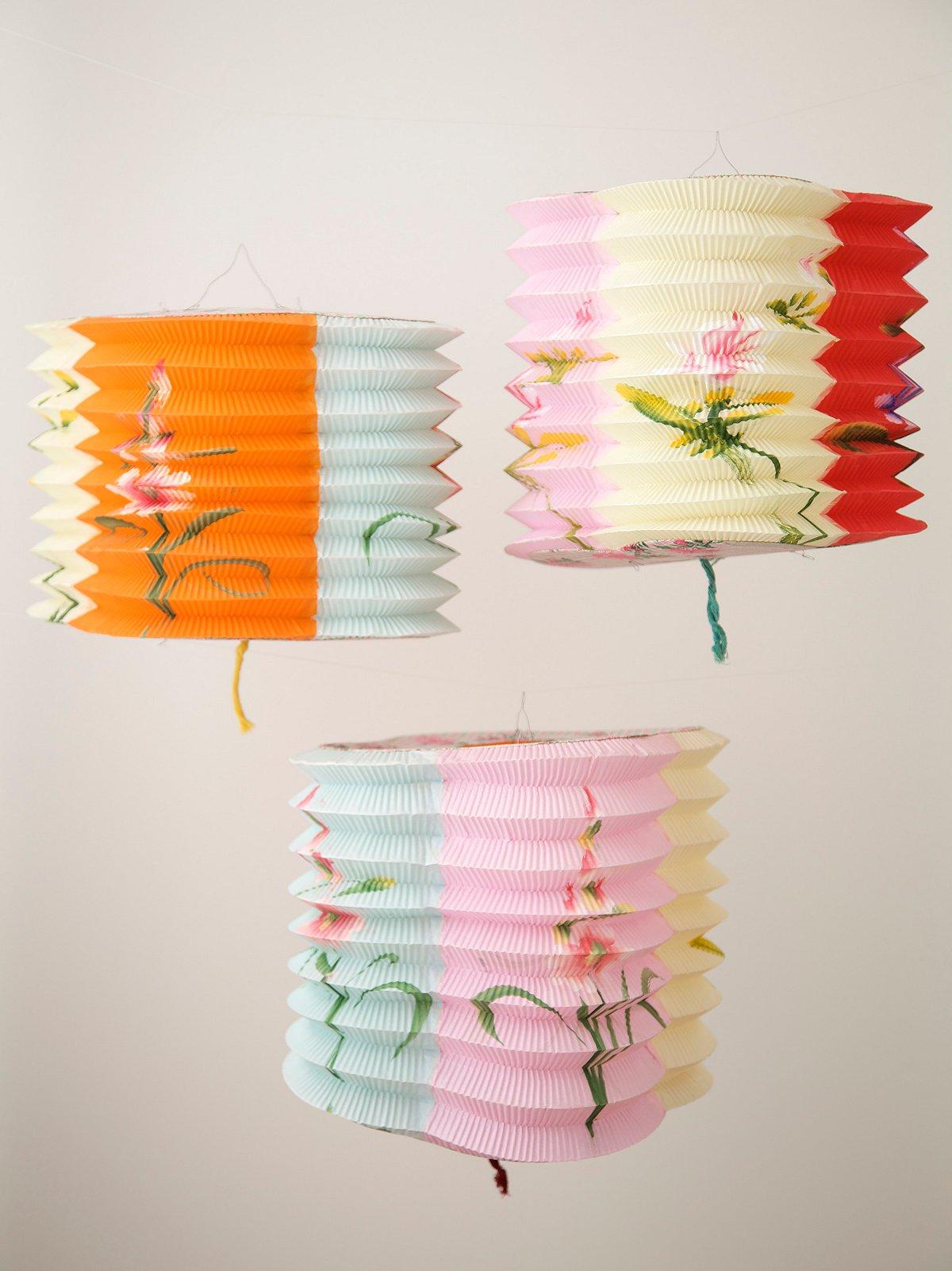Vintage 1950s Paper Lanterns