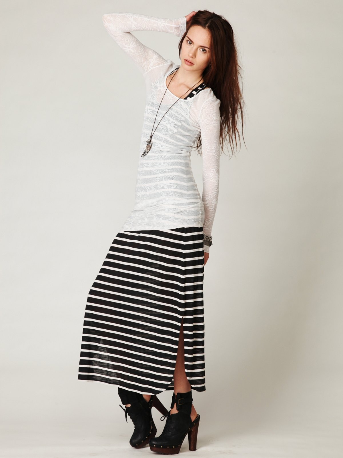 Striped Racer Maxi Dress
