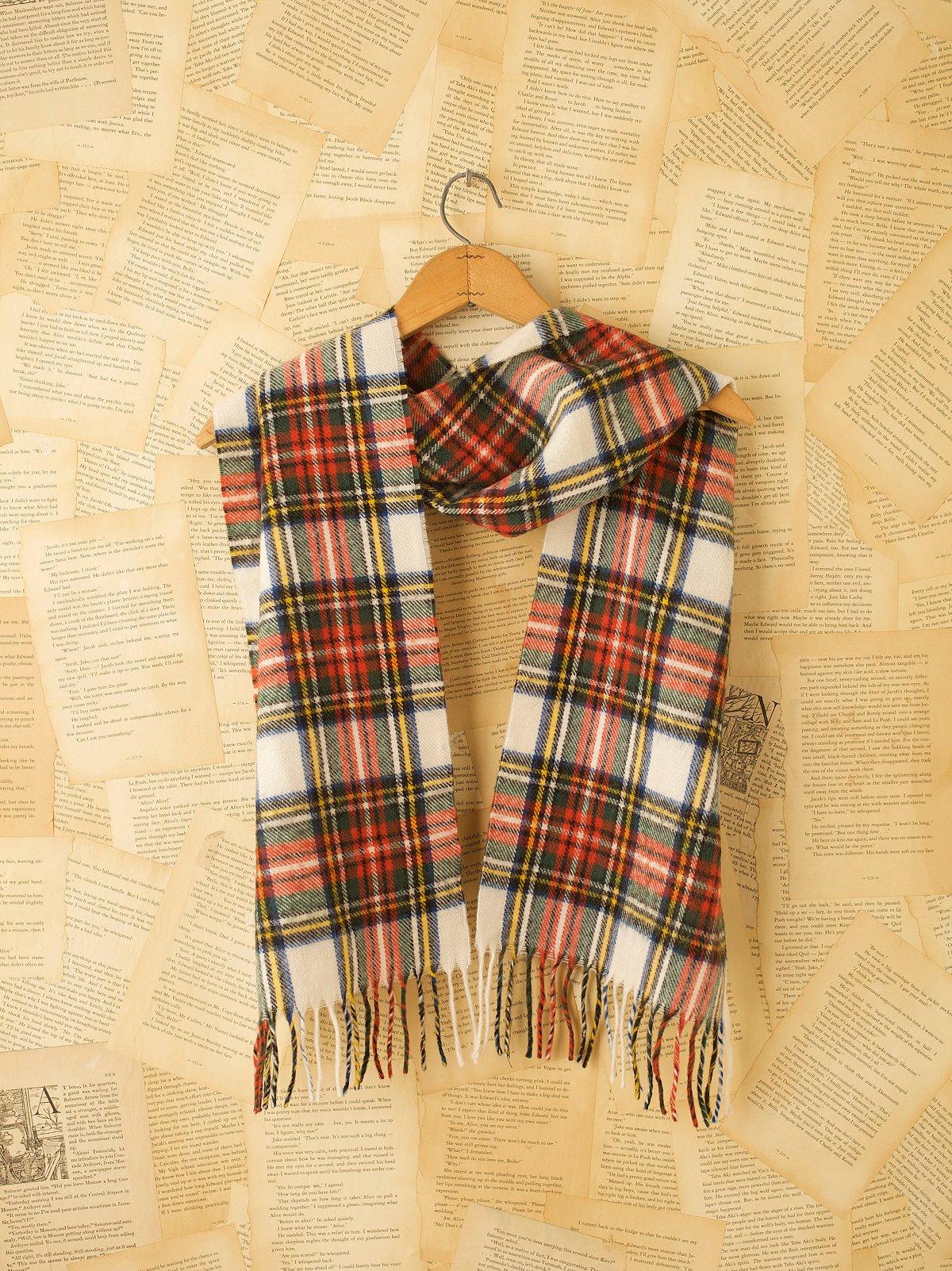 Vintage Plaid Wool Scarves