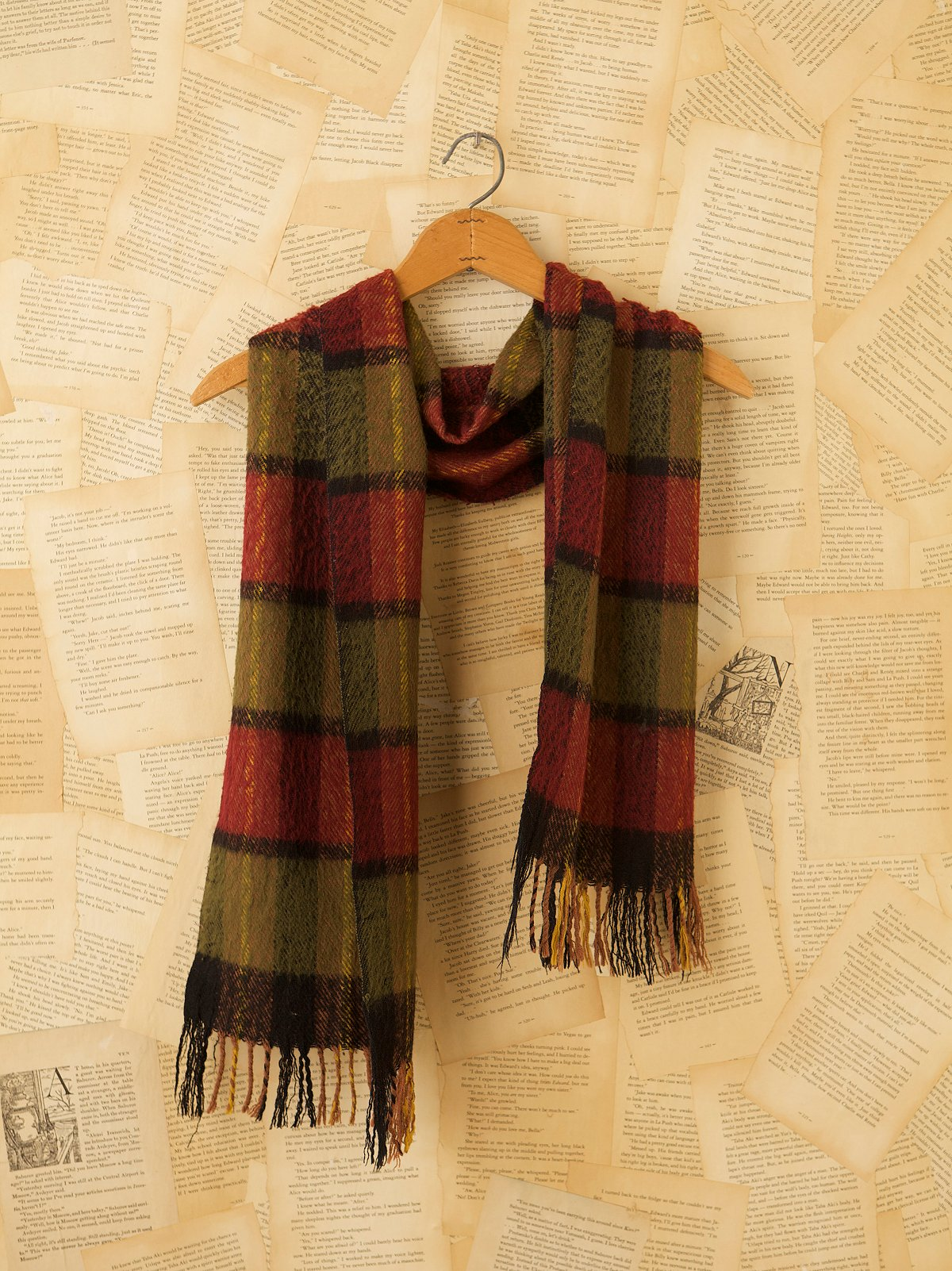 Vintage Plaid Wool Scarves