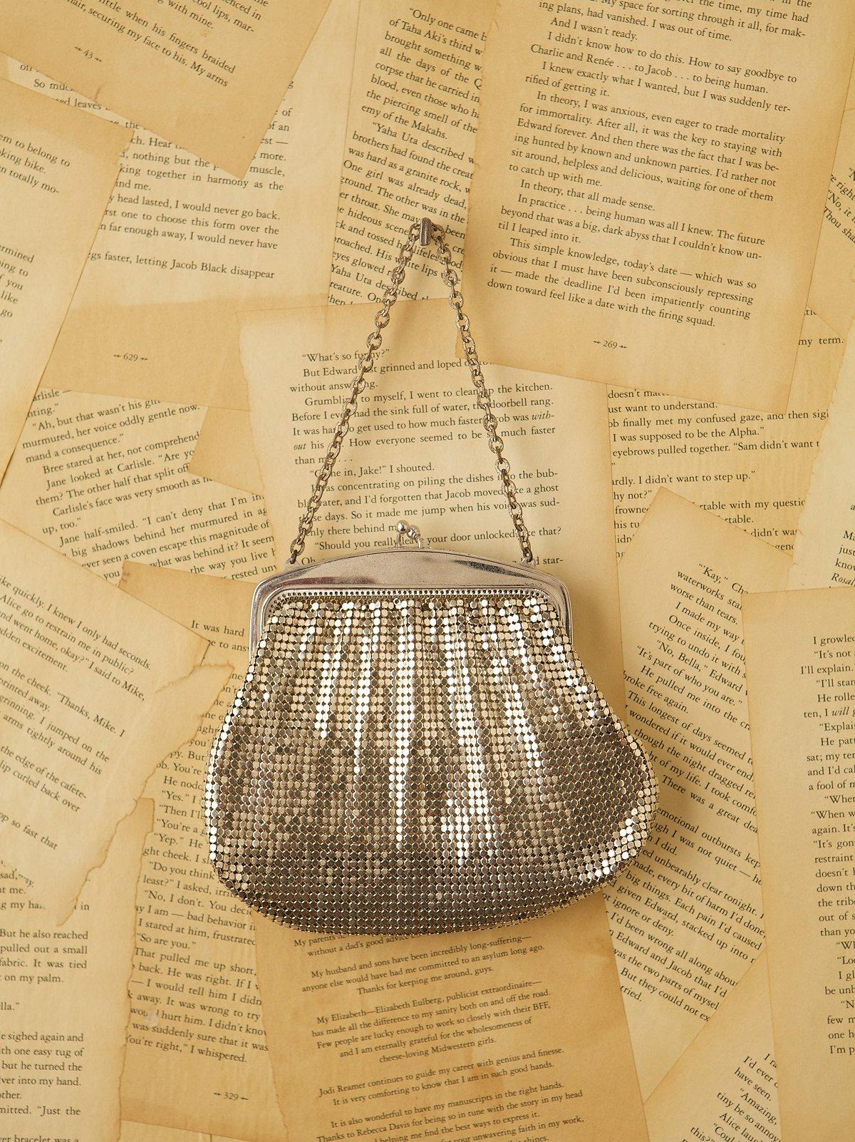 Vintage Silver Mesh Evening Bag